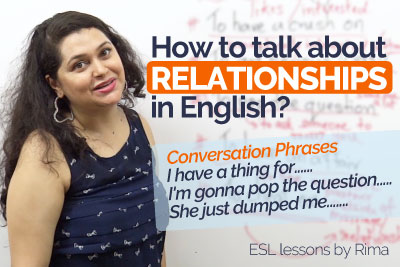 Spoken English lesson for learning English phrases to talk about relationships
