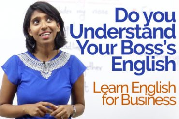 Do you understand your Boss's English? – Business English vocabulary