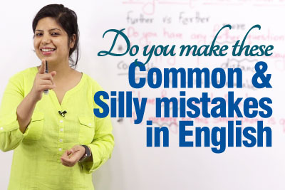 Common mistakes made in spoken English - free English speaking lesson
