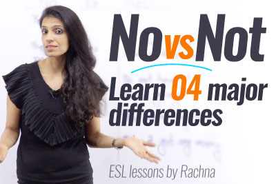 English speaking Practice Lesson - No vs Not