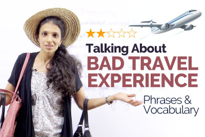 Free ESL lesson plan to talk about Bad Travel Experience