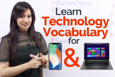Technology Vocabulary for mobile phone and computers - Learn English online