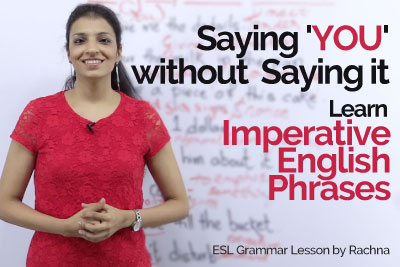 English Grammar Lesson to learn Imperative sentences in Passive voice