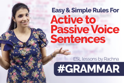 English Grammar rules for active voice and passive voice