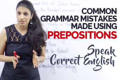 English grammar mistakes made with prepositions