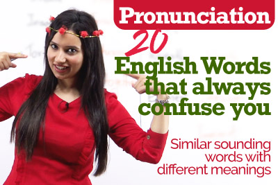 Pronunciation mistakes with confusing English word pairs