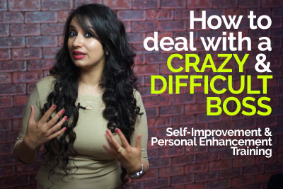 Personality development training video for self-improvement - How to handle a difficult and crazy boss
