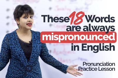 English Pronunciation Training - Commonly mispronounced words in English