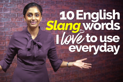 Learn common English slang words - English speaking course at Let's Talk English speaking Institute