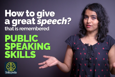 Personality development course on how to give a good speech and public speaking tips