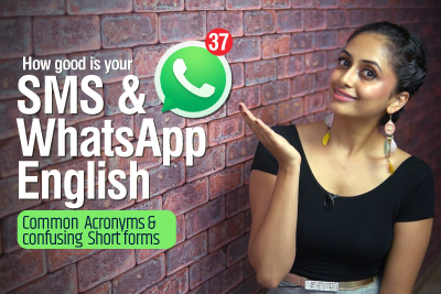 SMS & WHATSAPP English | Top Modern Internet Slang Words, Acronyms & Abbreviations used in daily texting | Learn English With Meera