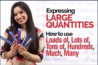 English Grammar Lesson - Expressing Large Quantities | Using Loads of, Tons of, Much & Many, Hundreds of | Learn English with Michelle
