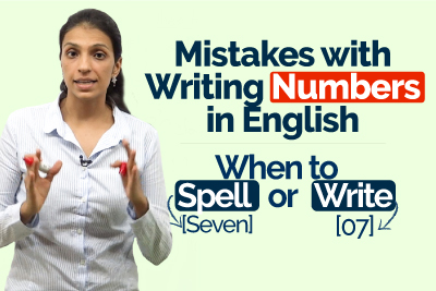 Common English Mistakes made with Writing Numbers - When to Spell or Write - IELTS Writing Tips | Improve English