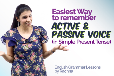 Easy Trick Active and Passive Voice in English Grammar (in Simple Present Tense) - English Grammar Rules
