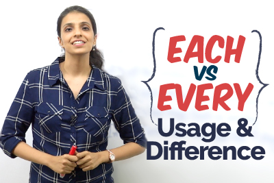 Each vs Every - Usage & Difference | English Grammar Lesson | Improve Your English