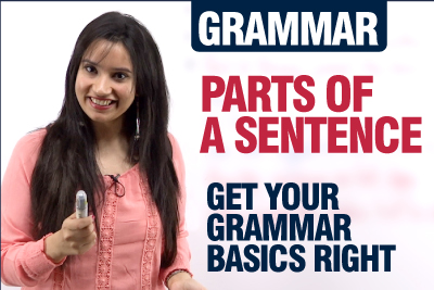 English Grammar lesson - Parts Of A Sentence   Subject Verb Object Agreement   For English Beginners