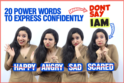 Learn 20 Powerful Advanced English Words To Express Confidently In English | Don't Say - Happy, Sad, Angry, Scared