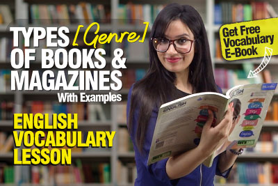 English Vocabulary Lesson | Types (Genre) of Books & Magazines We Read | Learn English With Michelle