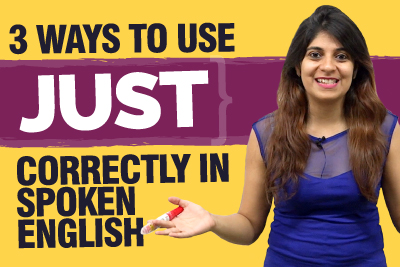 How to use JUST correctly in spoken English? Improve English Speaking | Learn English With Niharika