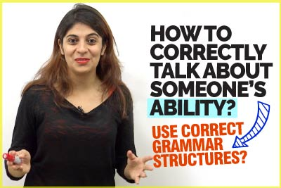 Learn Correct English Grammar Structures To Describe Someone's Ability | Learn English With Niharika