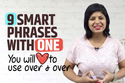 9 Smart English Expressions With ONE You Should Start Using Today! Improve English Vocabulary